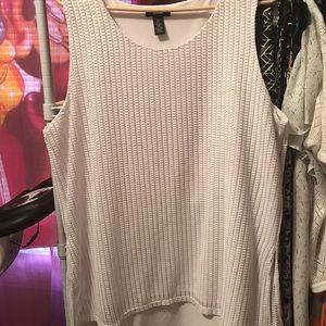 Tops - Ladies Alfani Sleeveless blouse White size XL